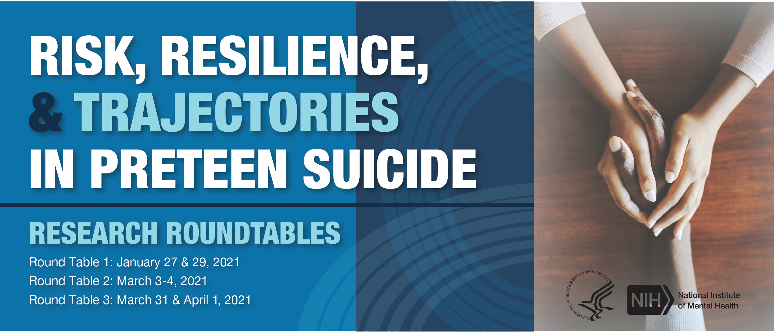 NIMH Risk, resilence, and tragectories in preteen suicide webinar banner